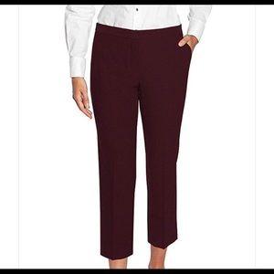 Mario Serrani burgundy slim cropped pants size 6